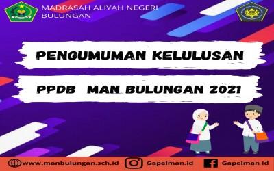 PENGUMUMAN KELULUSAN PESERTA DIDIK BARU 2021